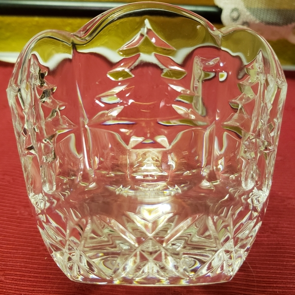 Vtg Lidded Cut Clear Crystal Glass Candy Dish Bowl